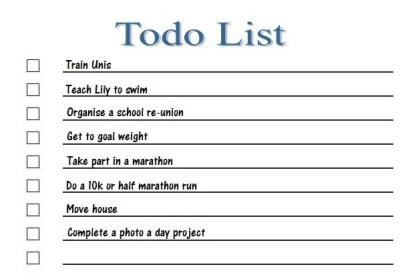 2013 To do list