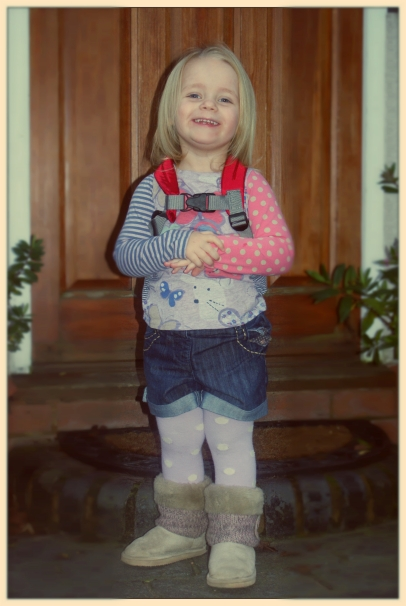 Lily on her first day at pre-school