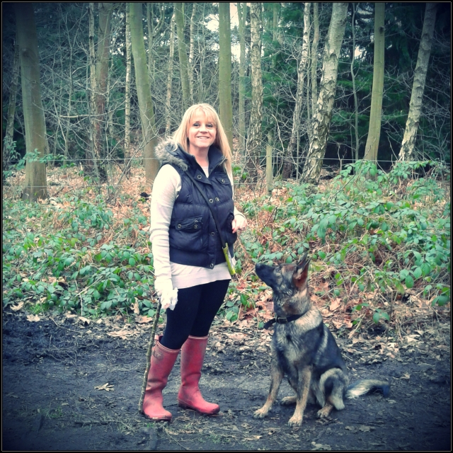 Unis and I, today, in the mud at Highgate Common